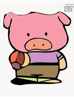 小猪情侣卡通头像简笔画图片大全可爱