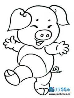 卡通小猪简笔画图片