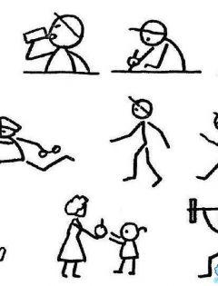 线条运动人物简笔画