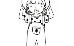 q版可爱卡通人物简笔画女孩