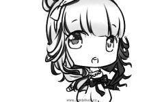 q版简笔画可爱女孩