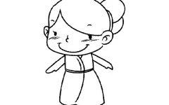抖音上q版小女孩简笔画