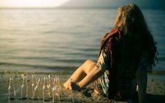 喝酒女人伤感唯美图片大全