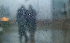 唯美动漫伤感雨天图片