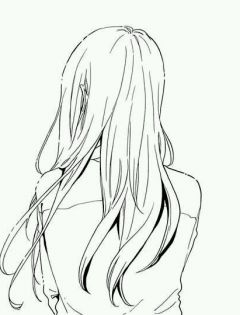背影图片女生唯美伤感黑白动漫