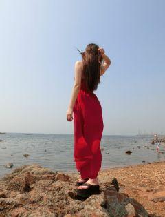 唯美图片女生背影伤感高清大海