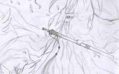 古风q版人物手绘铅笔画