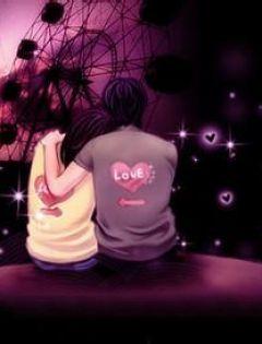 情侣卡通图片伤感