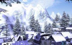 雪景伤感唯美情侣图片大全