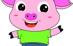 猪可爱的动漫图片