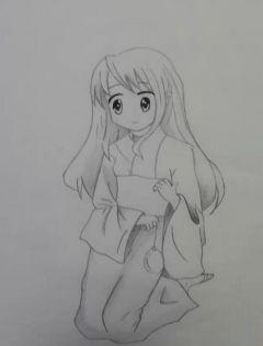 动漫图片大全可爱女生简单素描