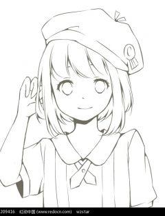 动漫图片女生可爱简单手绘