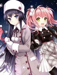 可爱动漫图片女生双人