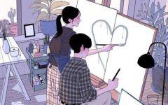 情侣生活日常动漫图片