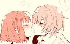 情侣亲吻图片壁纸动漫图片