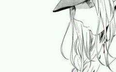 女生动漫头像黑白高冷