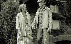 老人情侣图片黑白