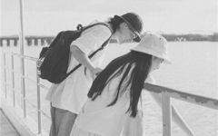 情侣图像黑白一对