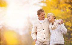 老人幸福情侣图片带字