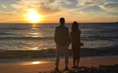 金星夕阳海边情侣图片大全