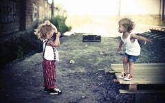 情侣图片小孩子