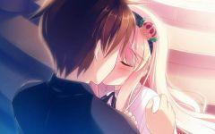 动漫情侣图片大全可爱亲吻