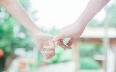 爱情牵手带文字图