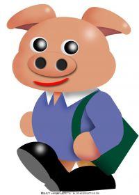 胖成猪的可爱图片卡通