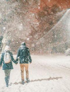浪漫下雪图片