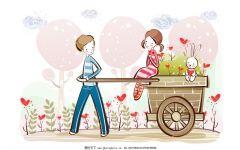 卡通图片爱情