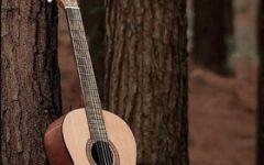 吉他爱情唯美图片