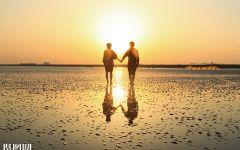 爱情双人背影图片