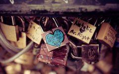 爱情锁唯美意境图片