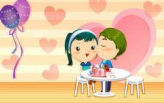 爱情甜蜜卡通可爱图片