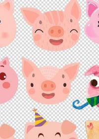 可爱猪头图片