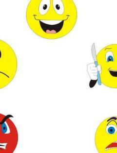小黄脸表情图片