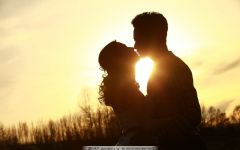 浪漫爱情唯美夕阳图片