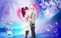 浪漫爱情动漫背景图片