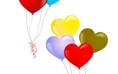 浪漫气球手牵手图片