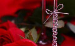 浪漫红酒玫瑰图片