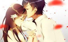 浪漫情侣卡通意境图片