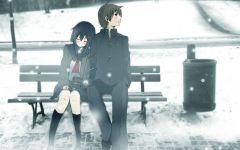 下雪浪漫情侣图片