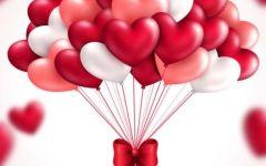 浪漫气球心形图片大全