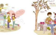 浪漫卡通情约会侣图片