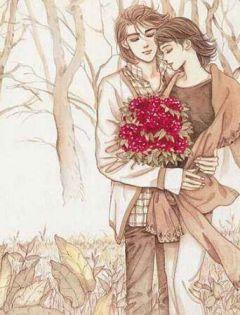 手绘浪漫情侣图片