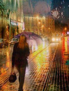 下雨天浪漫图片