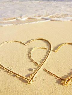 沙滩浪漫图片