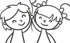 简笔卡通情侣图片