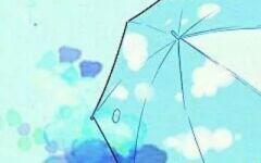 撑伞情侣头像动漫图片