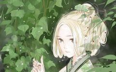 绿色系唯美动漫图片